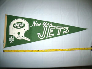 New York Jets Vintage Original 1967 Single Bar Full Size NFL Pennant