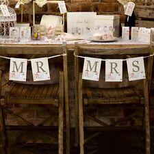MR & MRS matrimonio Sedia segni piuttosto Appeso Sedia Segnaletica Per La Sposa e Sposo