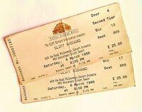 Cliff Richard Tickets / Stubs Royal Albert Hall London 06/03/99 Memorabilia