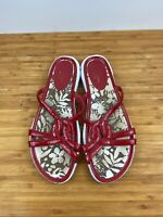 Cole Haan Women's Red Patent Leather Slip On Sandals NikeLab Sole Size 10 B