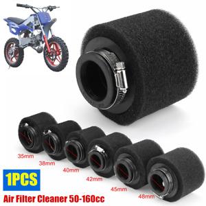 35/38/40/42/45/48mm Inlet Air Filter Cleaner ATV Go Kart Dirt Pit Bike 50-160cc