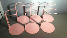 Doll Stands set of 6 six Pink Metal stands for 6 to 11 inch Dolls and bears 2095