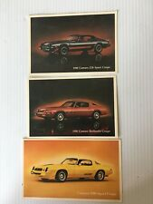 1979 And 1980 Camaro Z28 And 1980 Berlinetta ORIGINAL Factory Postcards 3 Total