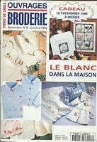Ouvrages broderie n°8 janvier 1996 point de croix