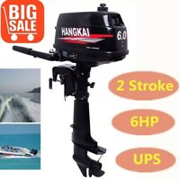 2Stroke 6HP Outboard Engine Fishing Boat Motor Water Cool CDI System Short Shaft
