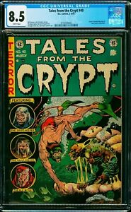 TALES FROM THE CRYPT #40 CGC 8.5 WHITE PAGES! PRE-CODE HORROR! SOTI HEARINGS!