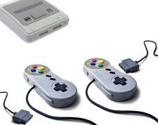 2x Retro Classic Controller Gamepad für Super Nintendo SNES 16Bit Joypad *NEU*