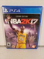 NBA 2K17 Legend Edition Lakers Kobe Sony PlayStation 4 Complete in Box CIB
