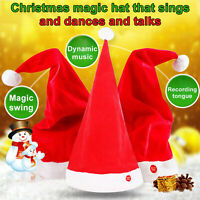 Red Christmas Hat Singing Dancing Santa Cap Party Swing Music
