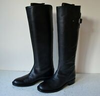 HOBBS ITALIAN BLACK LEATHER/LEATHER LINED KNEE HIGH RIDING BOOTS UK 4 RRP £195