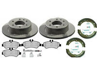 MERCEDES SPRINTER REAR BRAKE DISCS AND PADS WITH HAND BRAKE SHOES 2006 - 2016