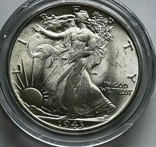 1943 Walking Liberty Half Dollar - Choice/GEM BU Reflective Luster