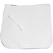 White Quilted Cotton Dressage Saddle Pad Shaped to Fit NEW - Imp USA