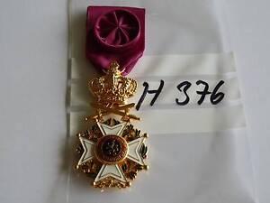 Orden Belgien Leopoldorden golden mit Schwerter und Krone Offizier (h376)