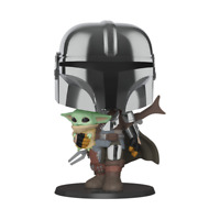 Funko Pop! The Mandalorian: Mandalorian with The Child 10in Mint In stock!