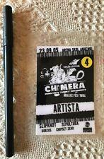 Slipknot Laminated Backstage Chimera Music Festival Brazil - RARE