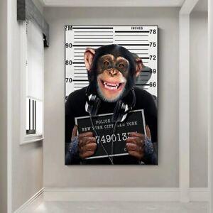 Monkkey Crimina Funny Animal Home Decor Art Gift Wall Decor Poster, no Framed