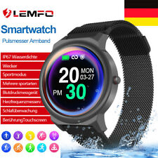Damen Smartwatch Bluetooth Fitness Armband Wasserdicht IP68 Sport Uhr Tracker DE