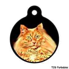 Tabby Cat Kitty -Custom Personalized Pet ID Tag for Dog & Cat Collars