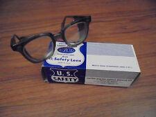 Vintage U.S. Safety Service Co. Glasses Size 44 Steampunk Retro 1960s MOD