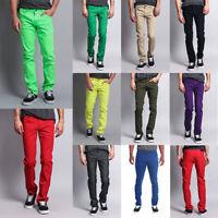 Victorious Men's Spandex Color Skinny Jeans Stretch Colored Pants   DL937-PART-2