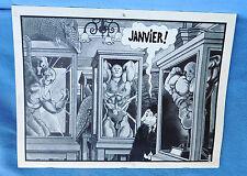 Calendrier 1984 TARDI pour les éditions Futuropolis. 40 x 30 cm - neuf
