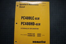 KOMATSU PC400LC-6LM Crawler EXCAVATOR Operation/Operator Maintenance Manual 2001