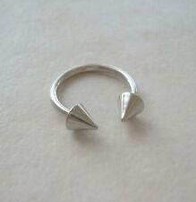 """Circular Barbell Horseshoe Spike Steel 5/8"""" 14g Ear Nipple"""