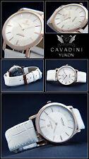 Classic Moments Luxury Cavadini Nostalgie Men's Watch Ip Rose Gold Plated