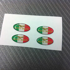 4 Adesivi MOTO GUZZI TRICOLORE 2 cm 3D resinati