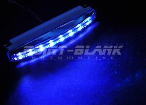 DRL 8x LED 9-16V Daytime Running Lights - 150lm Blue