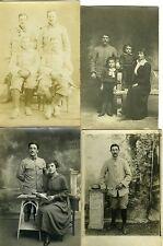 LOT  8 Carte - Photo MILITAIRES famille enfants circa 1900 1920
