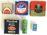 6 Vintage Boxes & Containers Doan's Pills, Paris Garters, Ball Jar Rubbers RARE
