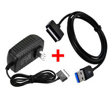 AC Wall Charger + USB Cable For ASUS Transformer Pad TF101 TF201 TF300T/700