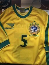 BRAZIL Futsal #5 2000 Home Football Shirt (XL) Soccer Jersey Penalty