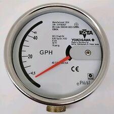 """Yokogawa Rota Flowmeter RAKD42-T6SS-52NNN-E80424 40GPH Fuel Oil 4-20ma 3/8"""" NPT"""