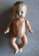 "Vintage 1930s Jointed Composition Baby Boy Character Doll 9"" Tall"