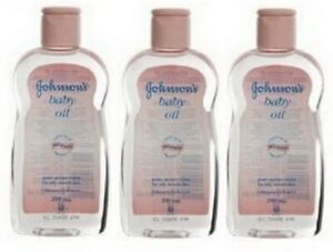 Pack 3 Johnsons Baby Öl Weich Täglich Pflege 200ml