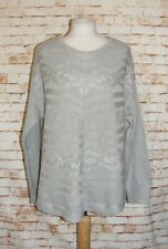 size 12 Moda George cable knit jumper long sleeve poncho style body light grey