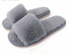Home Slippers Plush Winter Cotton Indoor Shoes Fur Warm Solid Patterned Footwear