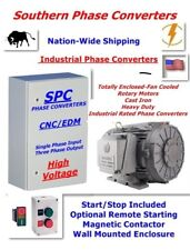 30 HP CNC Rotary Phase Converter-For Metal & Woodworking Equipment--TEFC Motor