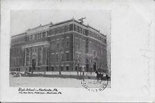 High School Nanticoke PA handsome vintage postcard used in 1907