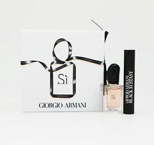 Giorgio Armani Si Edp 7ml Perfume + Black Ecstasy Mascara 2ml Women Gift Set New