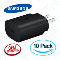 10x OEM Samsung EP-TA800 Galaxy S20 S20+ 25W Type C Super Fast Wall Charger