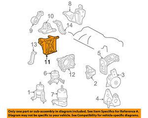 TOYOTA OEM 04-08 Sienna Engine Motor Transmission-Bracket Right 123160A040
