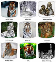 Tigers & Cubs Lampshades Ideal To Match Tiger Duvets & Bedding & Tiger Cushions.