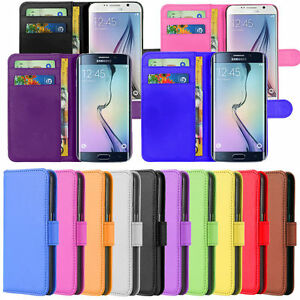 Samsung Phone Case PU Leather Magnetic Book Case Card Slots or glass Protector