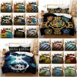Harry Potter Hogwarts Quilt/Doona/Duvet Cover Pillowcase Bedding Set