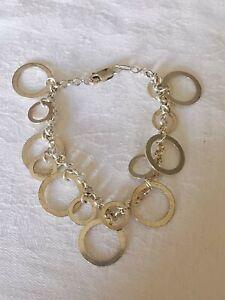 Sterling Silver Circle Design Bracelet