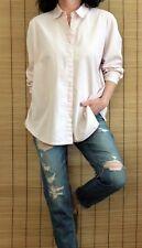J Jill 100% Cotton L Sleeve Button Down Shirt Pink Sz L